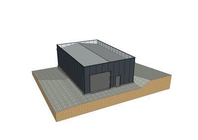 Plat dak uitstraling